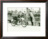 Mondial Motorcycle Road Race Framed Giclee Print
