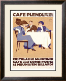 Cafe Plendl Framed Giclee Print by Ludwig Hohlwein