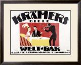 Kramer's Welt-Bar Framed Giclee Print by Gerda Wegener
