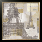 Eiffel Tower III Prints by Pela &amp; Silverman 