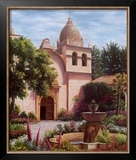 Carmel Mission Fountain Art by Barbara R. Felisky