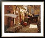 Café de Provence Art by Leonard Wren