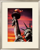 Statue of Liberty Print by Sandra Baker
