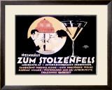 Weinhaus Zum Stolzenfels Restaurant Framed Giclee Print by Reinhard Hoffmuller