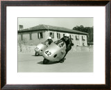 NSU GP Motorcycle Framed Giclee Print by Giovanni Perrone