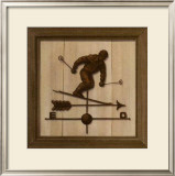 Girouette Skieur Print by Thierry Verger