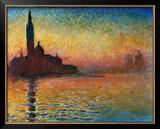Pôr do Sol em Veneza Posters por Claude Monet