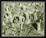 New York City, Skyline and Biplanes Framed Giclee Print