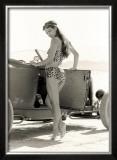 Pin-Up Girl: 1932 High Boy Salt Flat Framed Giclee Print by David Perry