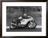 Laverda GP Motorcycle Framed Giclee Print by Giovanni Perrone