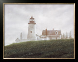Fog at Pemaquid Prints by Douglas Brega