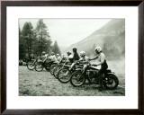 Bultaco Motocross Starting Gate Framed Giclee Print