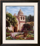 Carmel Mission Fountain Prints by Barbara R. Felisky