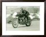 Gilera Four Motorcycle Race Framed Giclee Print