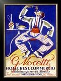 Italian Restaurant G. Nocetty Zurich Framed Giclee Print