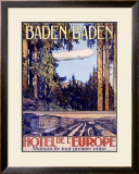 Baden Baden by Airship Hotel Framed Giclee Print