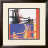 Brooklyn Bridge, c.1983 (black bridge/white background) Prints by Andy Warhol