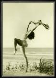 Women on Beach Framed Giclee Print