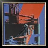 Brooklyn Bridge, c.1983 (pink, red, blue) Prints by Andy Warhol