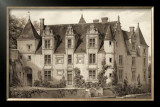 Sepia Chateaux III Print by Victor Petit