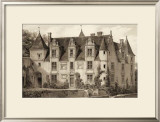 Sepia Chateaux III Prints by Victor Petit
