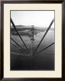 Construction of the Golden Gate Bridge Framed Giclee Print