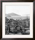 Alcatraz Island in San Francisco Bay, circa 1890 Framed Photographic Print