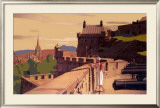 Edinburgh by the East Coast Route Framed Giclee Print by A Van Anrooy