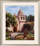 Carmel Mission Fountain Print by Barbara R. Felisky