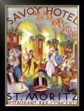 Savoy Hotel Restaurant Bar Concert Poster Framed Giclee Print