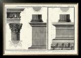 Cornice Tempio di Vesta Print by Giovanni Battista Piranesi