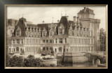 Sepia Chateaux IV Prints by Victor Petit