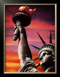 Statue of Liberty Poster by Sandra Baker