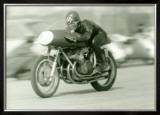 Gilera Four Motorcycle Race Framed Giclee Print