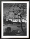 Winter at Night, New York, Central Park Framed Giclee Print