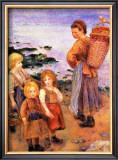 Mussel Fishers of Berneval Framed Giclee Print by Pierre-Auguste Renoir