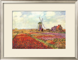 Tulips in Holland Posters by Claude Monet