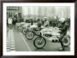 GP 50CC 125CC Motorcycle Race Framed Giclee Print by Giovanni Perrone