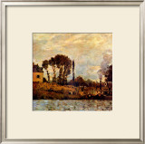 Small Boat on Water Framed Giclee Print by Claude Monet