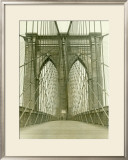 New York, Brooklyn Bridge Tower Framed Giclee Print