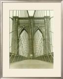 New York, Brooklyn Bridge Tower Framed Giclee Print