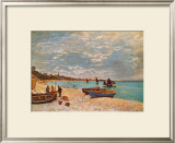 Beach at Sainte-Adresse Posters by Claude Monet