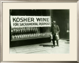 New York City, Kosher Wine Framed Giclee Print