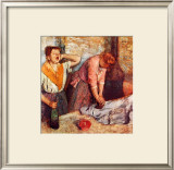 Woman Singing Framed Giclee Print by Edgar Degas