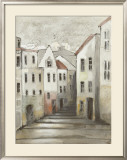 Town Houses II Print by Ingeborg Dreyer