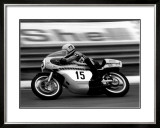 Yamaha GP Motorcycle Framed Giclee Print by Giovanni Perrone