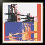 Brooklyn Bridge, c.1983 (black bridge/white background) Prints by Andy Warhol