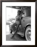 Pin-Up Girl: 1932 Deuce Coupe Garage Framed Giclee Print by David Perry
