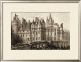 Sepia Chateaux II Print by Victor Petit