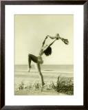 Women on Beach Framed Giclee Print